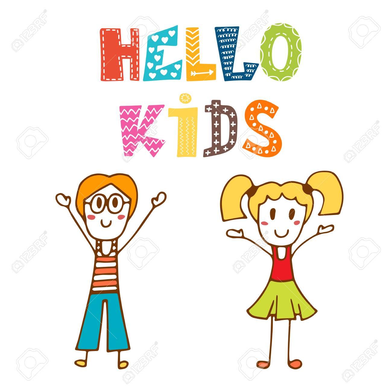 Hermosa Hola Niños Dibujando Bandera - Dibujos Para Colorear En ...