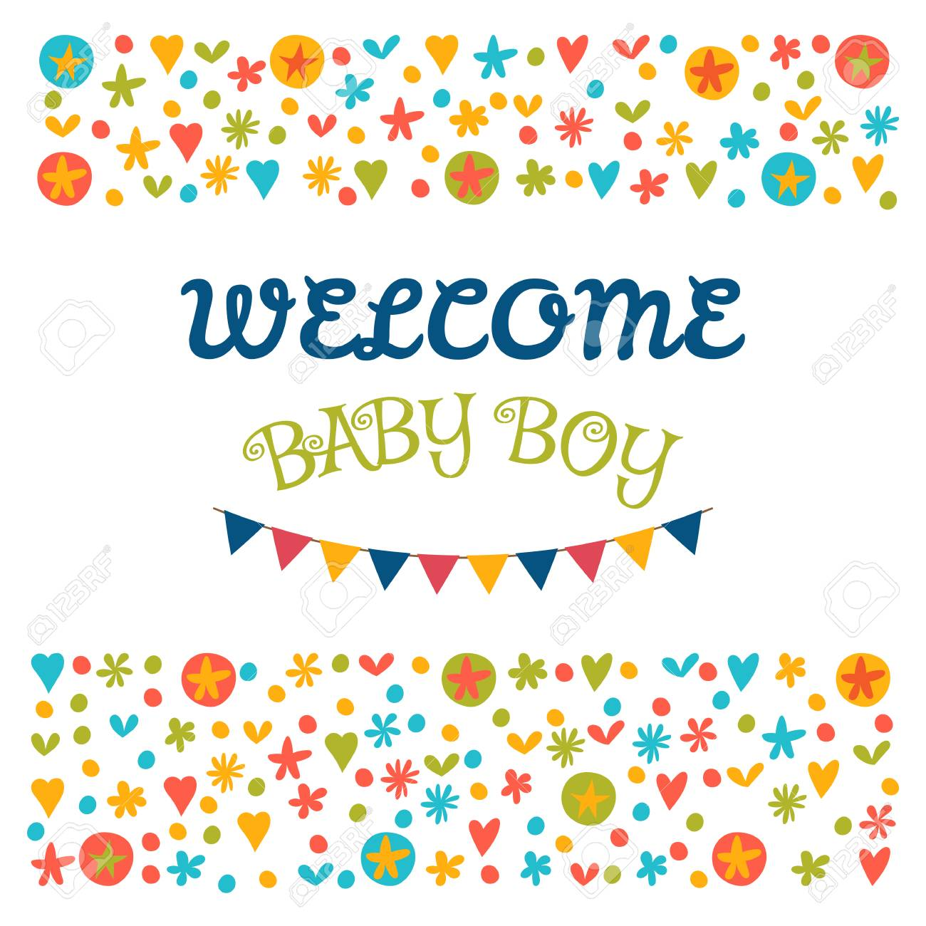 welcome baby boy baby shower greeting card baby boy shower