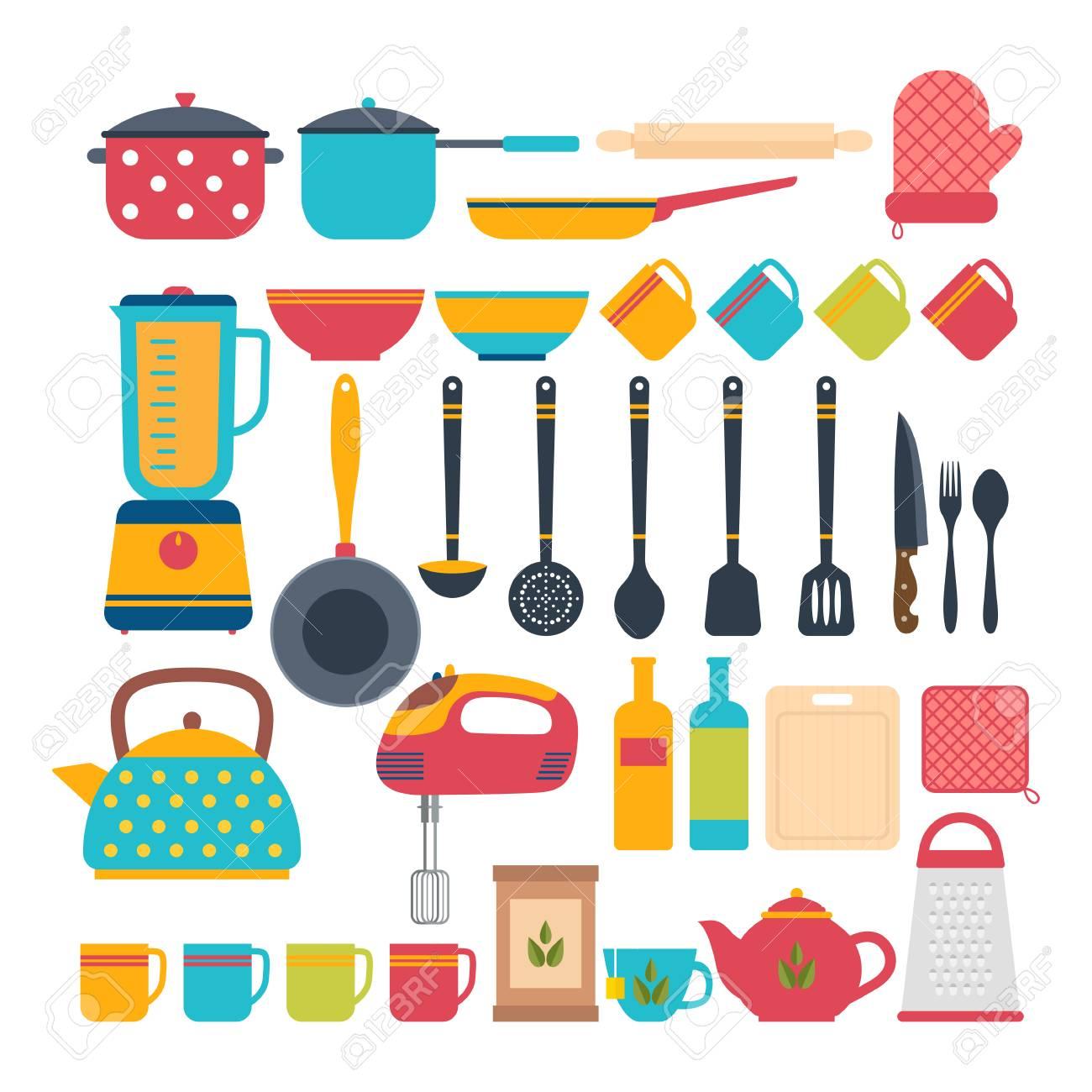 Küchengeräte. Kochen Werkzeuge Und Küchengeräte. Illustration ...