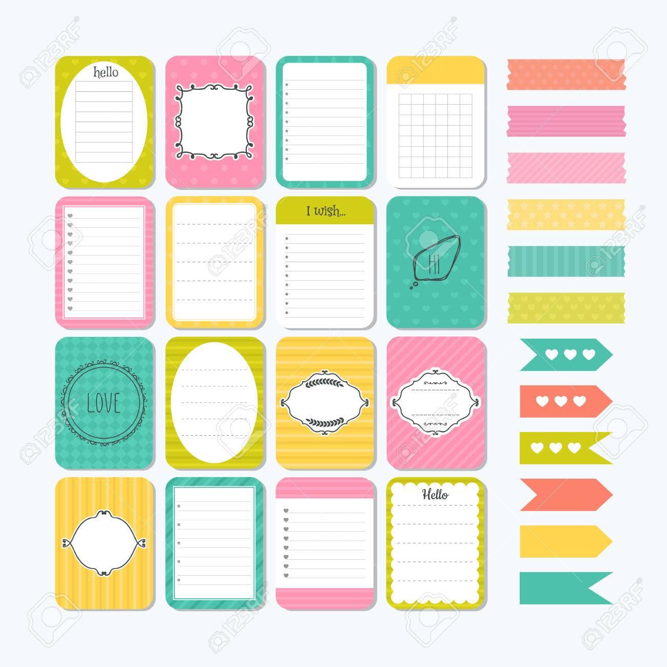 Etiquetas para cuadernos Etiquetas listas y notas t