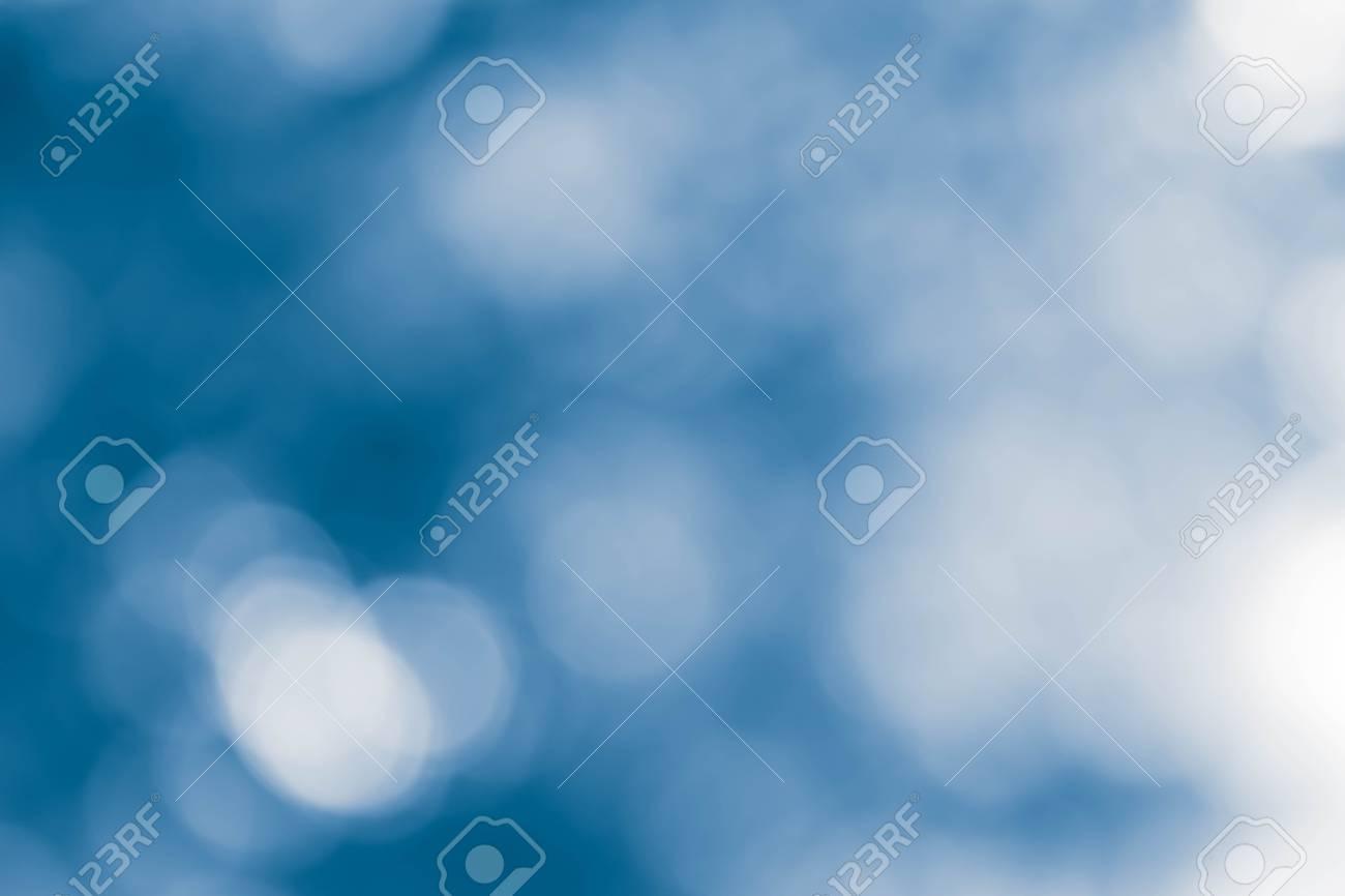 Bokeh lights On Blue Background - 95065228