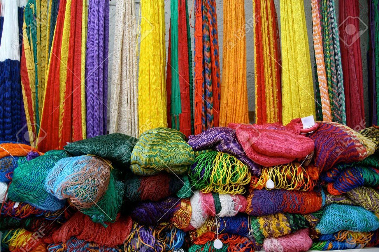 Mexican Hammocks for Sale near Chichen Itza Stock Photo - 3205882