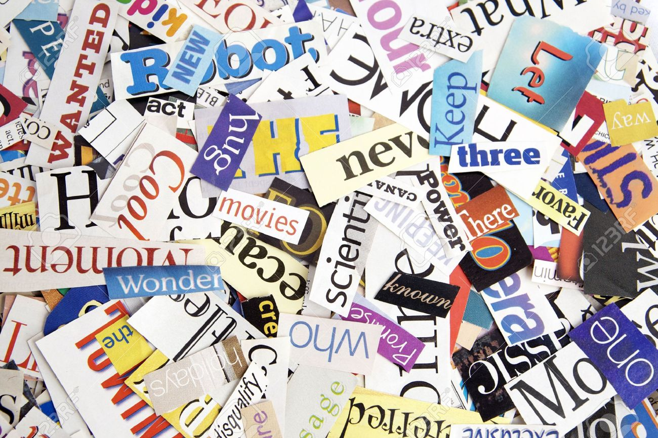 Colorful words cut out from magazines form an attractive background colorful words cut out from magazines form an attractive background stock photo 6637389 publicscrutiny Choice Image