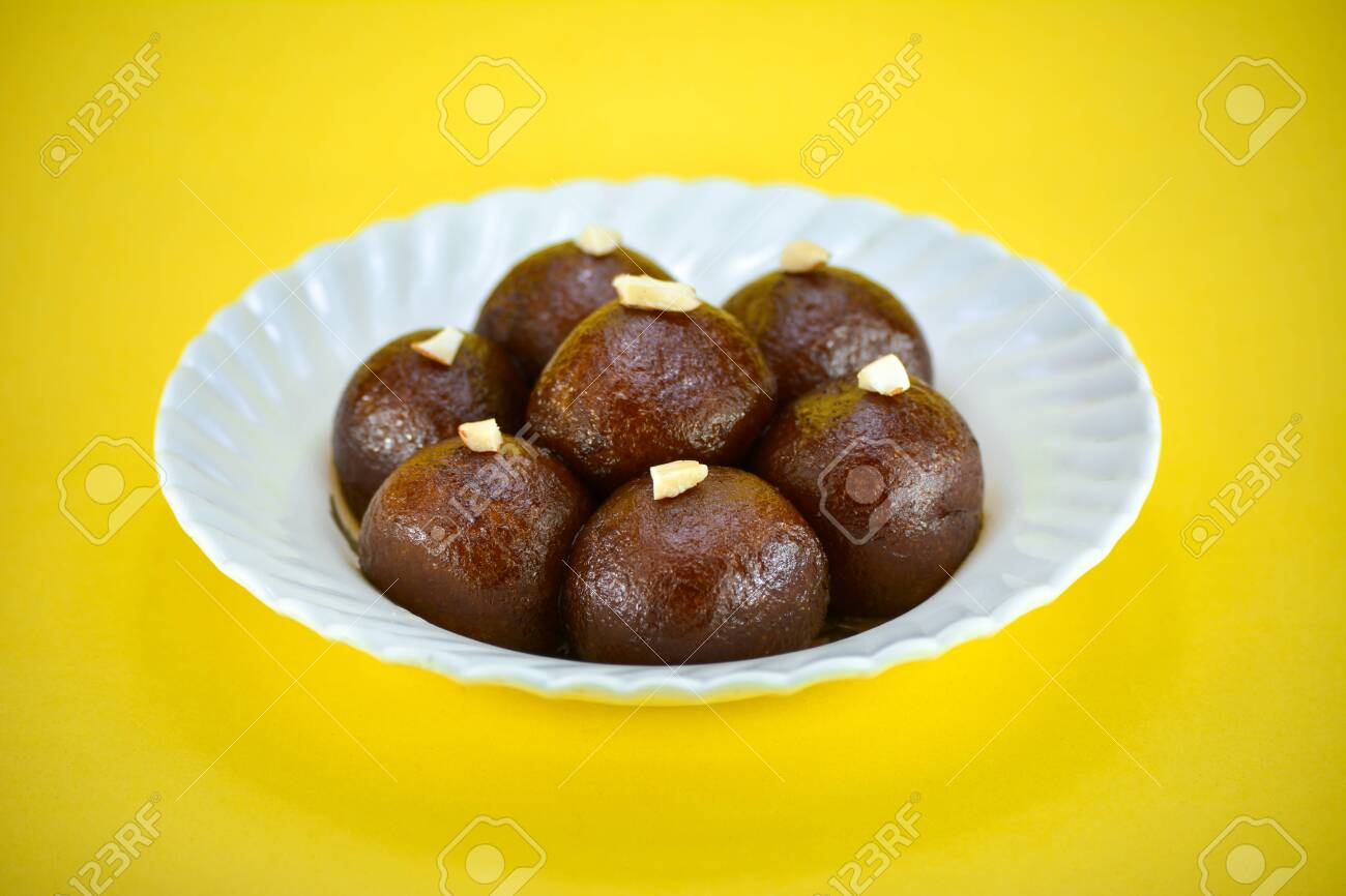 Indian Dessert Or Sweet Dish Gulab Jamun Stock Photo Picture And Royalty Free Image Image 148215893