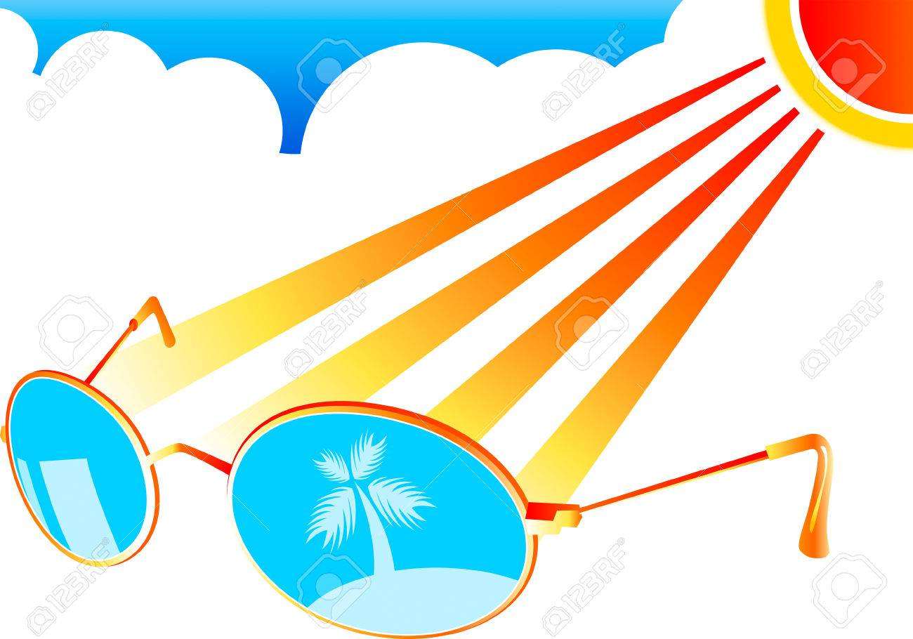 Sun-glasses at the beach interior in stylized vector Stock Vector - 2812572