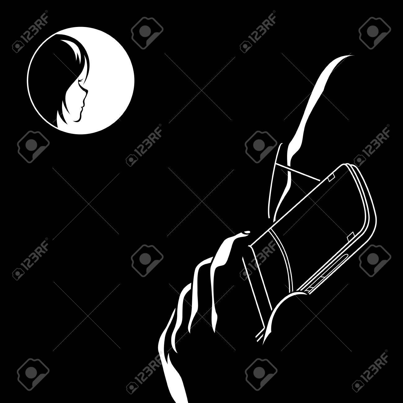 Man with mobile phone calling to his love Stock Vector - 5243002
