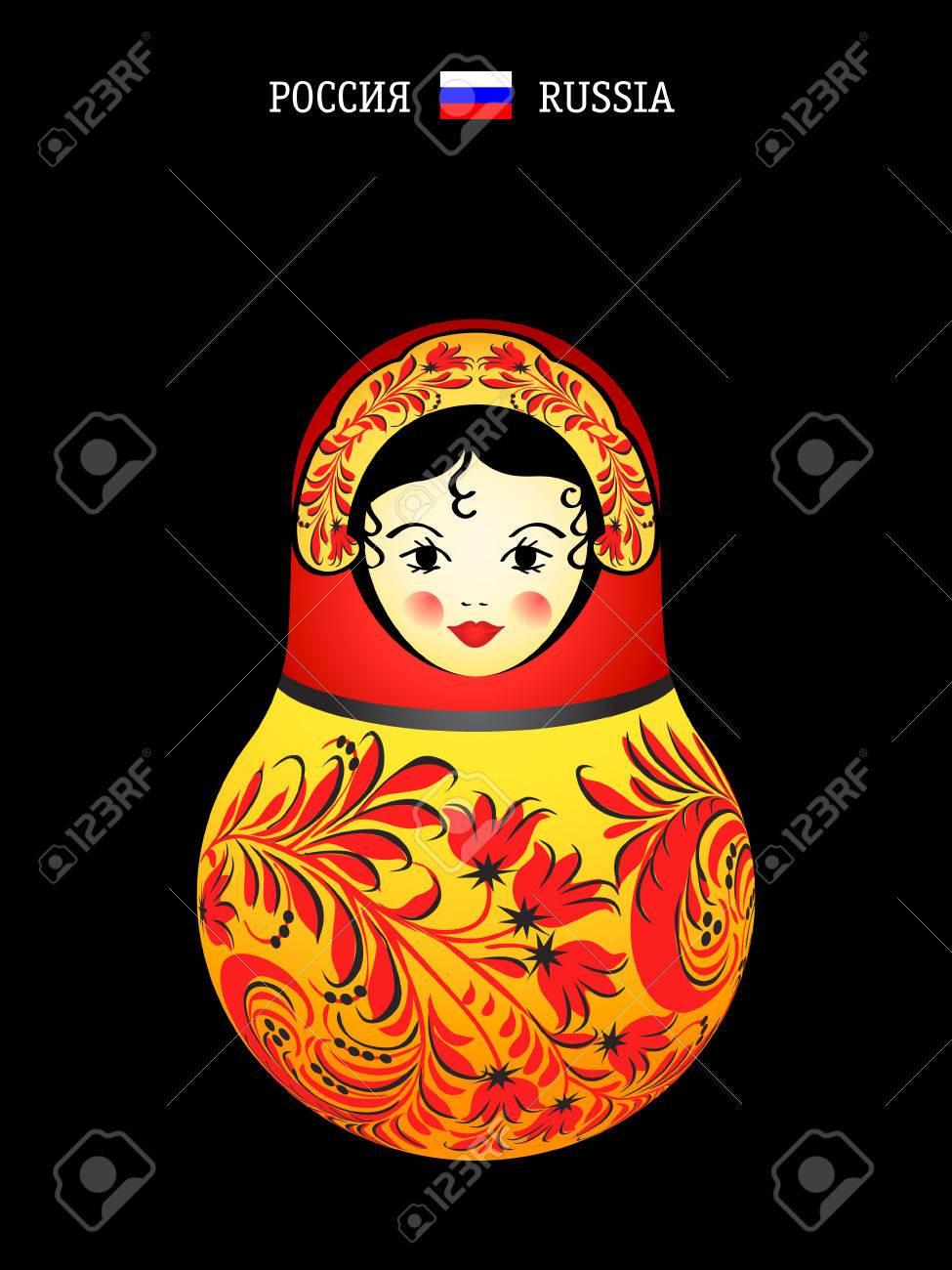 Matryoshkas of the World: Russian original doll Stock Vector - 5914121