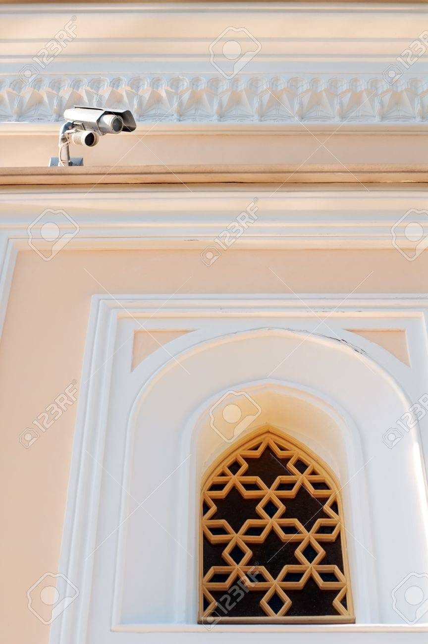 Small security camera near museum window Stock Photo - 6987968