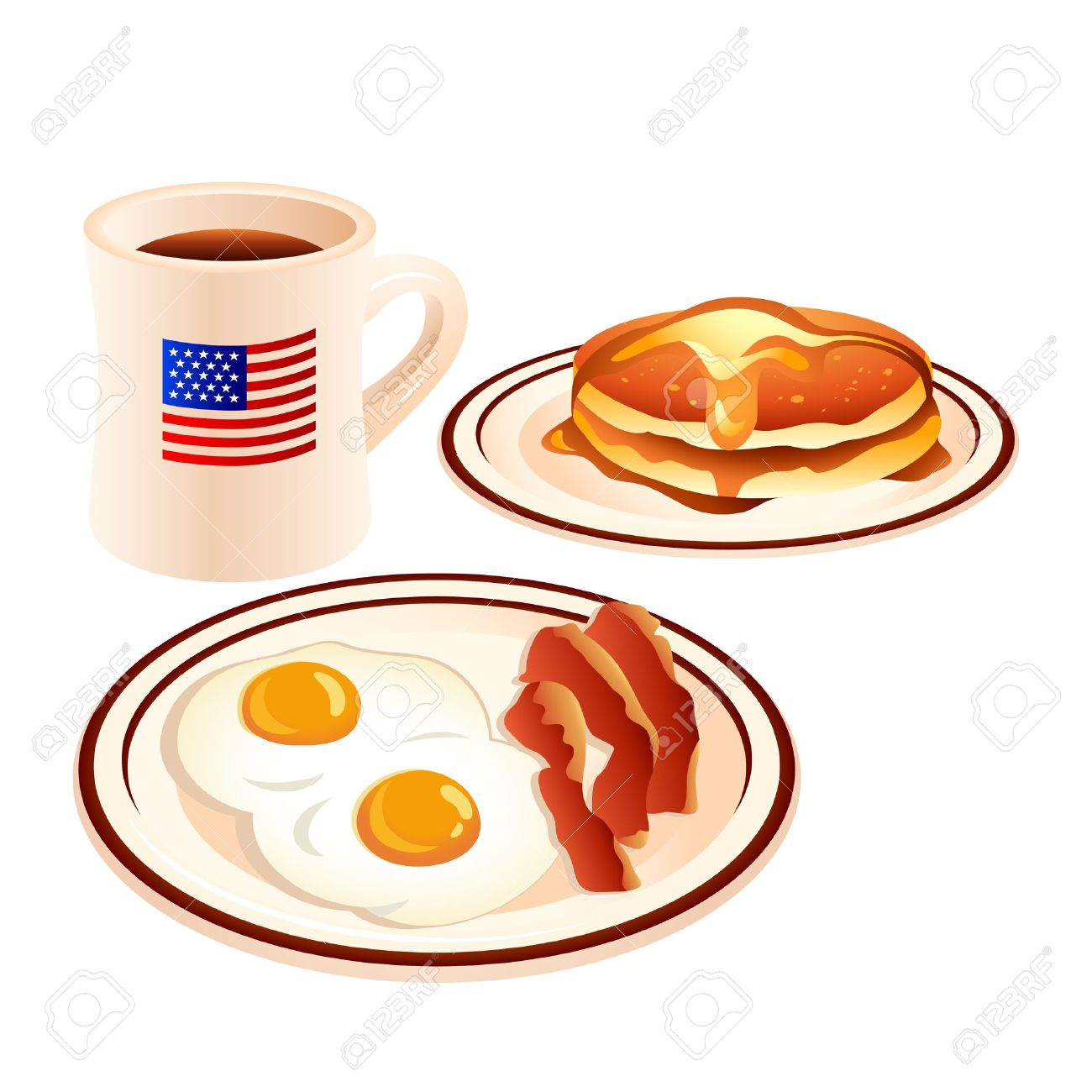 Pancakes And Sausage Clipart