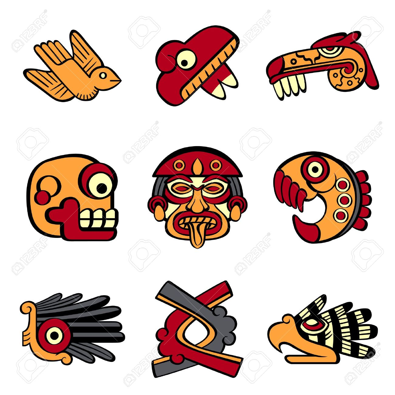 Aztec animal and abstract symbols royalty free cliparts vectors aztec animal and abstract symbols stock vector 14927775 biocorpaavc Images
