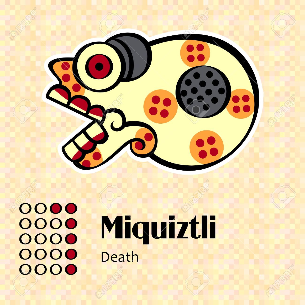 Calendario Inca Simbolos.Simbolos Aztecas Calendario Miquiztli O Muerte 6