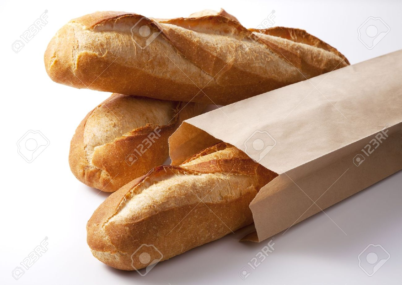 Baguette Bread In Basket