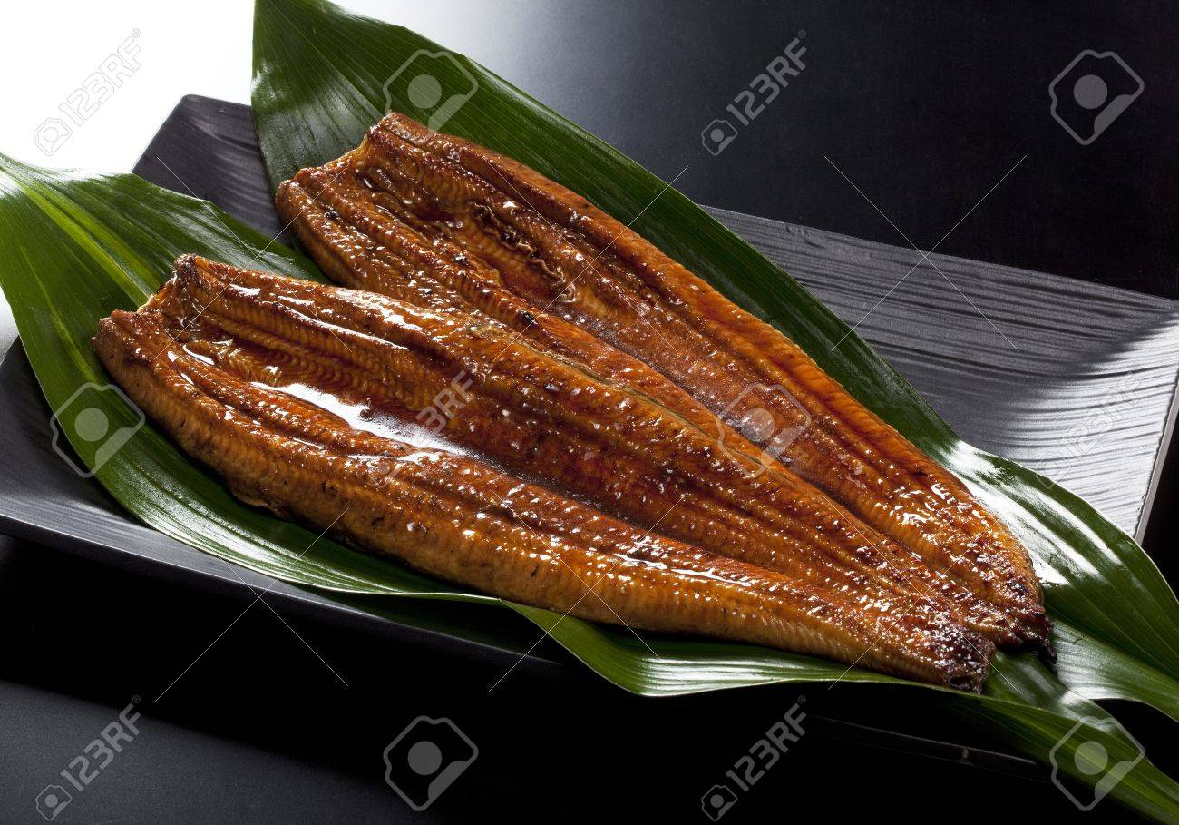 japanese food roast eel ( unagi ) on bamboo grass - 10314075