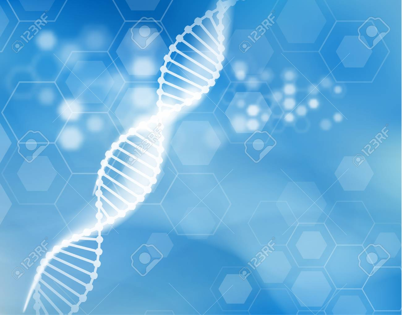 DNA strand scientific vector background. - 91099893