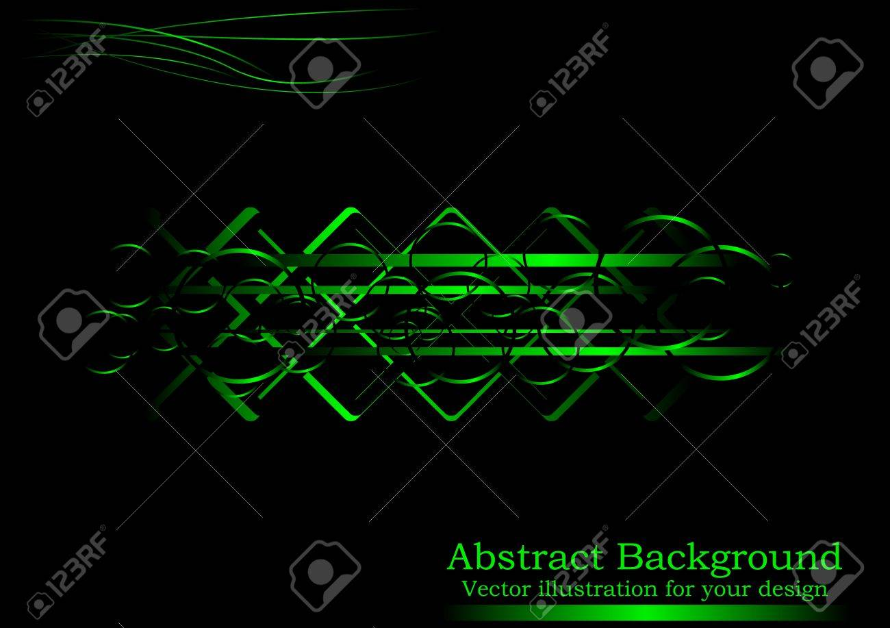 Background image position - Creative Black Green Abstract Background Horizontal Position Stock Vector 6689131