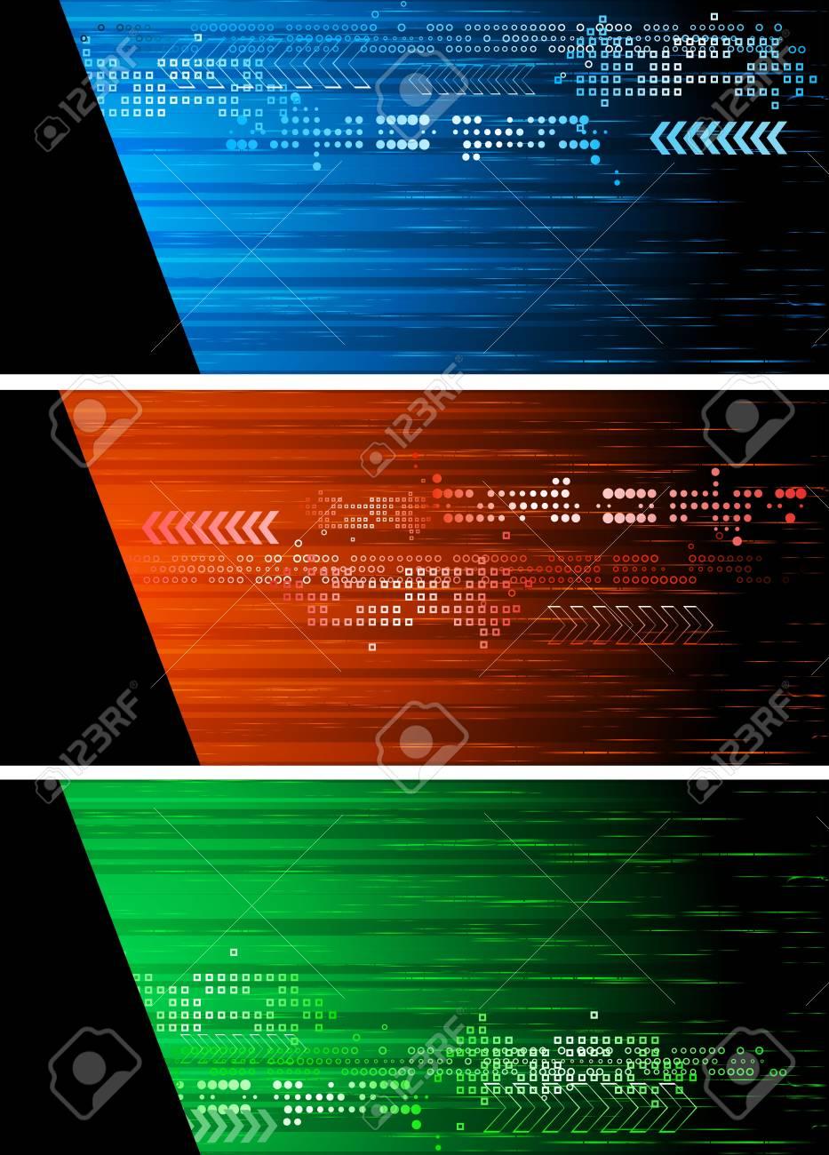 Set of three dark banners - eps 10 Stock Vector - 7089069