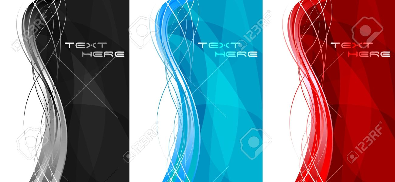 Abstract wavy banners - vertical position Stock Vector - 7125550