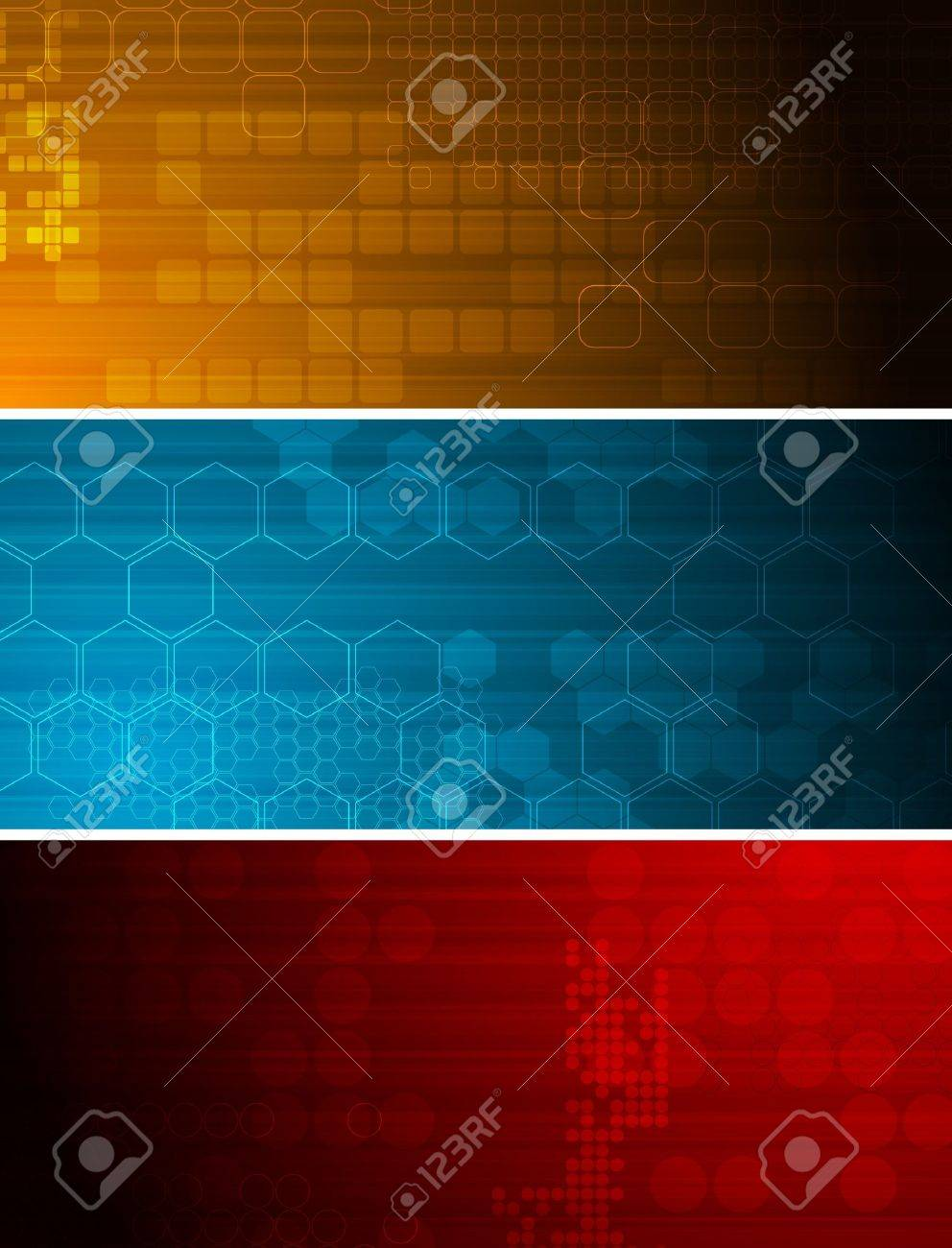 Set of bright technical banners with different elements Stock Vector - 7859958