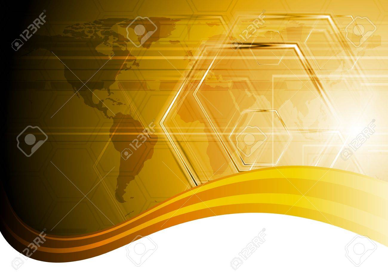 Orange hi-tech design with waves. Stock Vector - 10328190