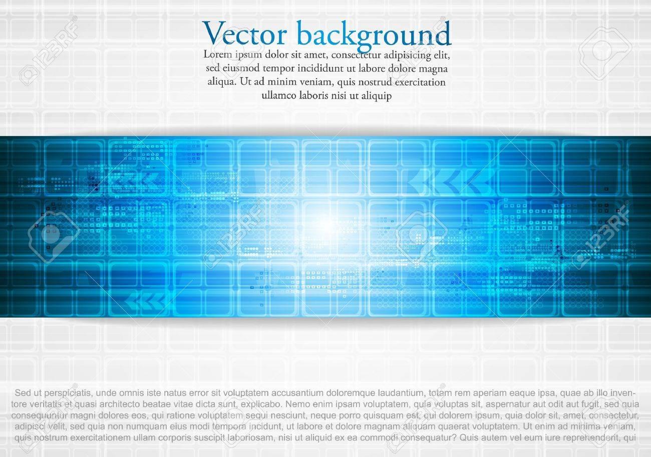 Hi-tech blue background. Vector illustration eps 10 Stock Vector - 10369847