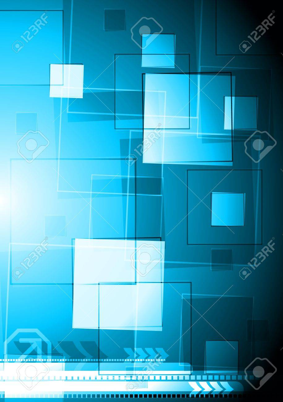 Blue vector background with squares. Eps 10 Stock Vector - 11851565