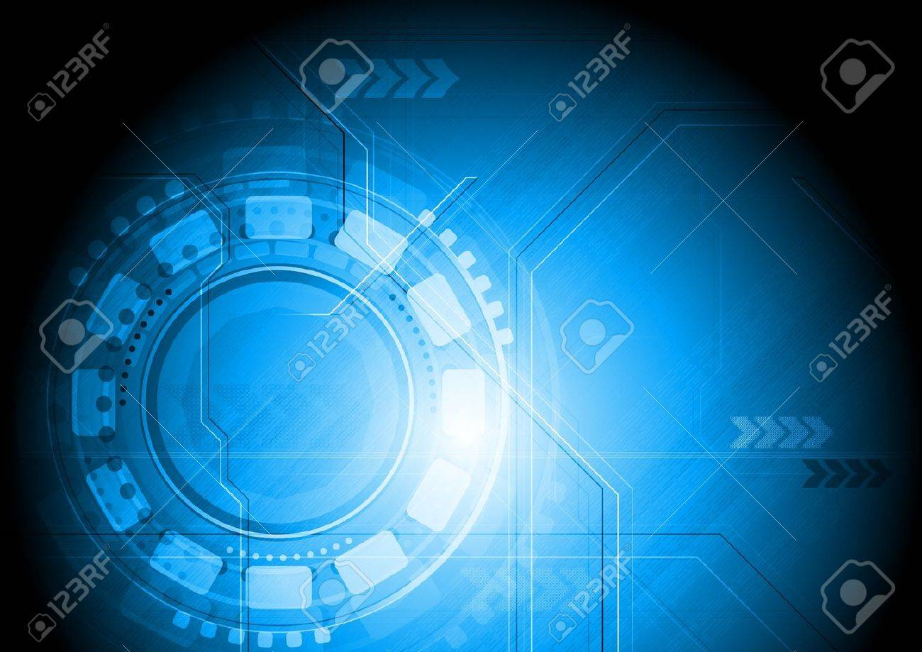 Blue hi-tech background. Vector illustration eps 10 Stock Vector - 11927823