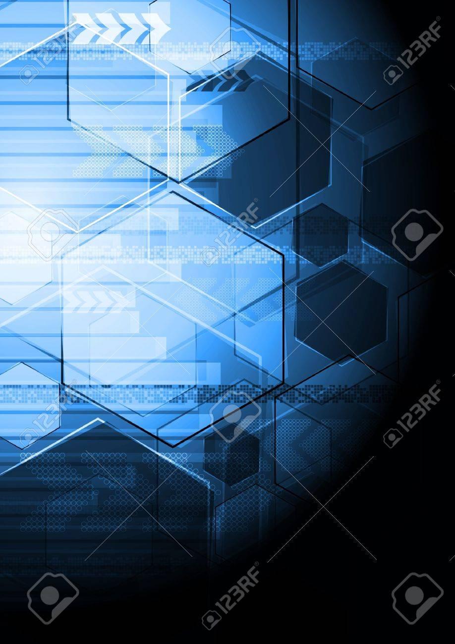 Vector technology background. Eps 10 illustration Stock Vector - 12495366