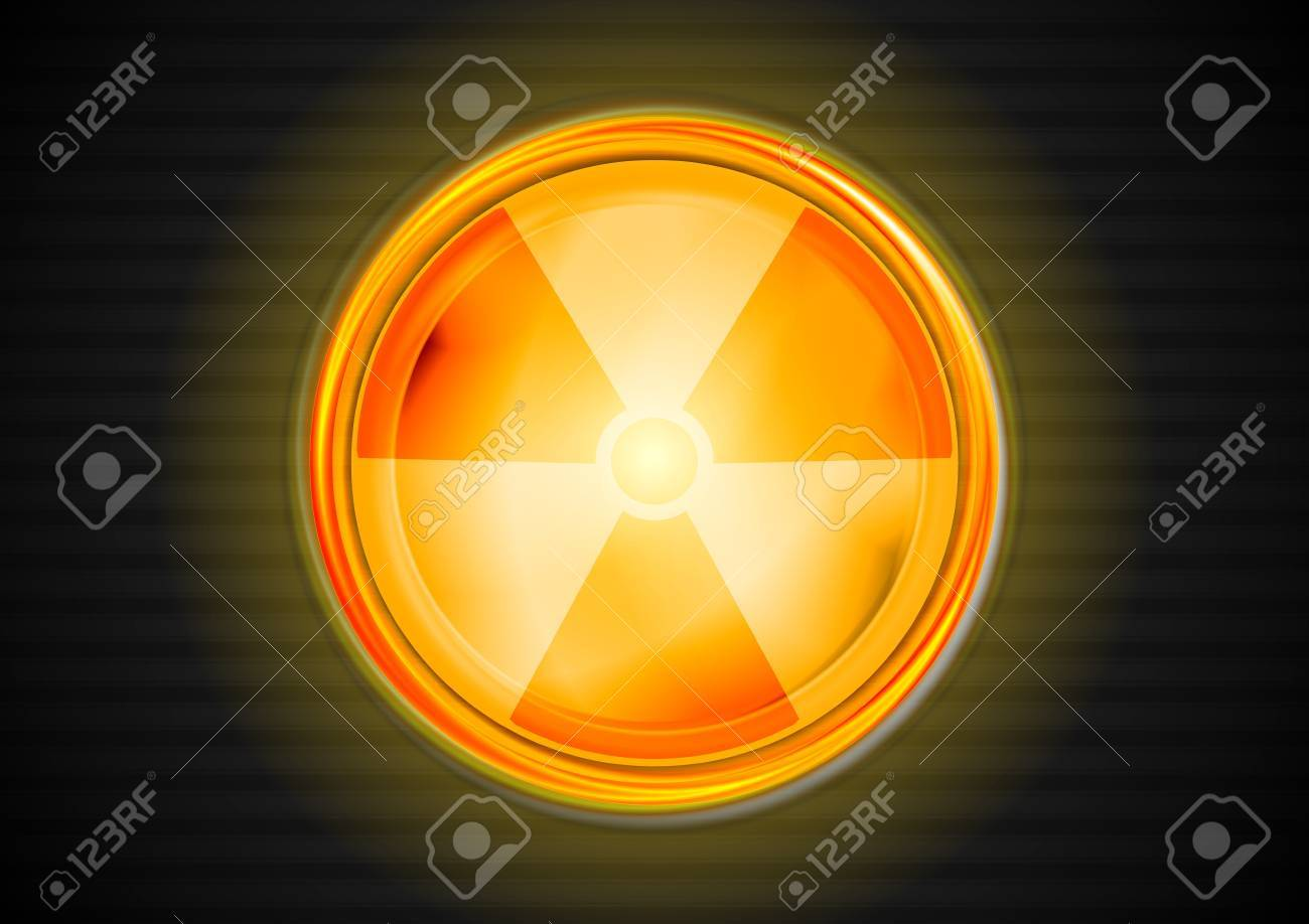 Nuclear radiation shiny symbol. Stock Vector - 16827718