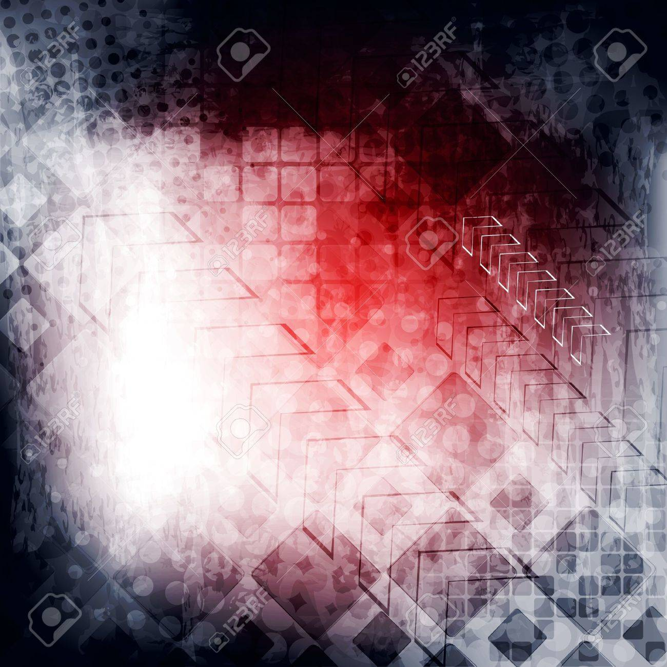 Abstract tech grunge background. Stock Vector - 16827717