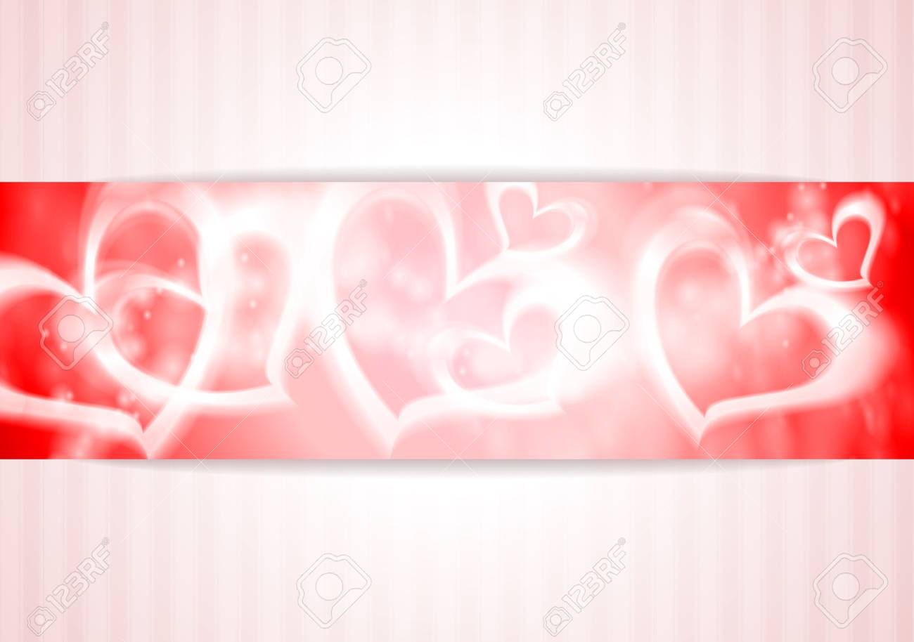 Abstract banner with hearts Stock Vector - 17307650