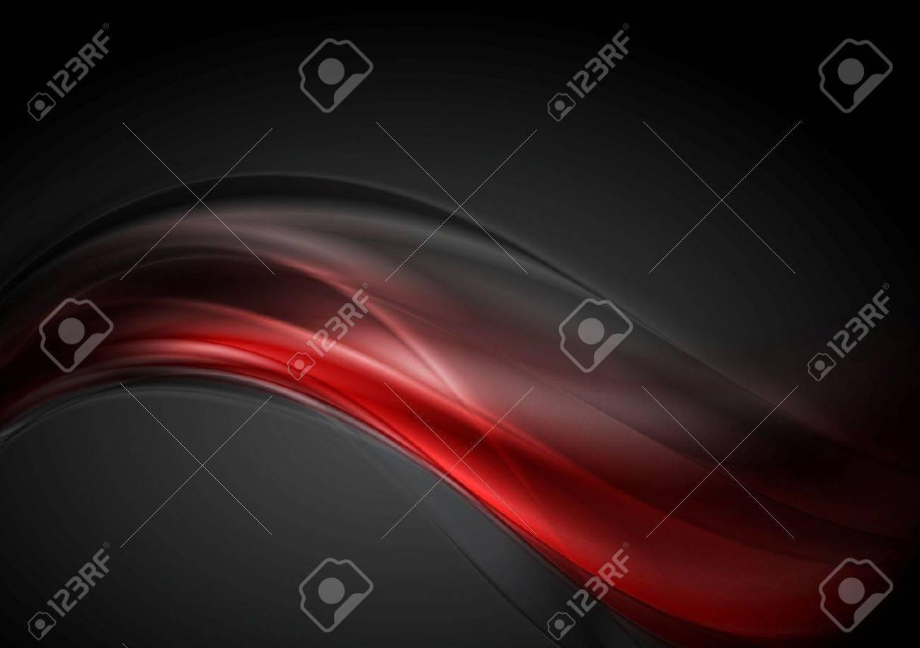 Dark red glow waves background. - 31997869