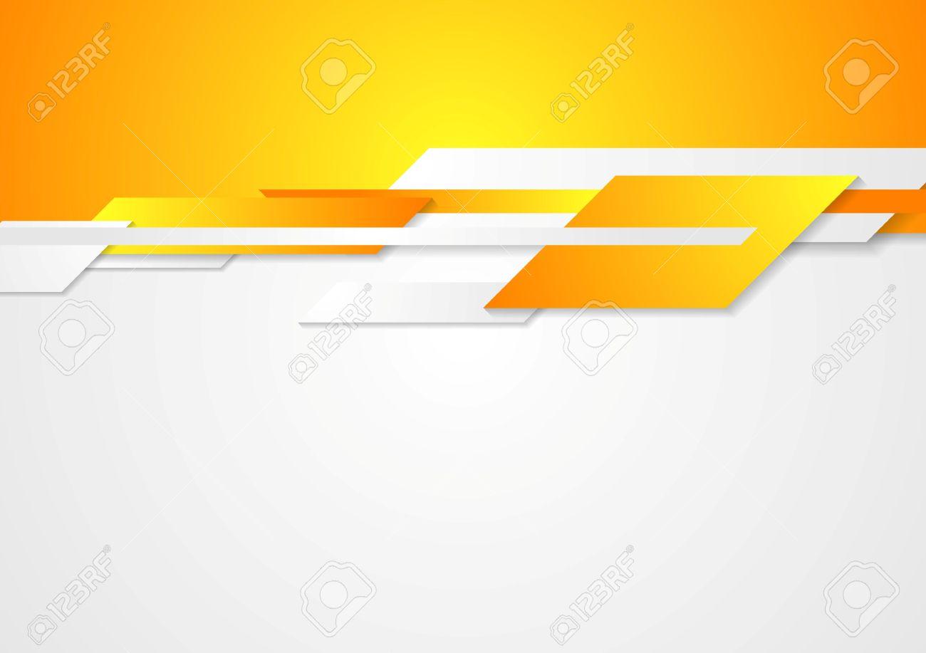 bright design geometric shapes on white and orange background
