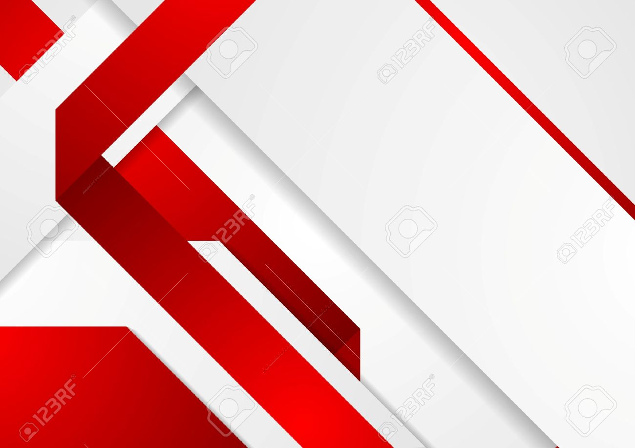 Bright Tech Corporate Red And White Background Vector Design