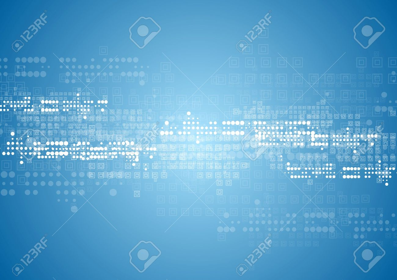 Abstract tech background with squares and circles. Vector blue design Stock Vector - 41024442