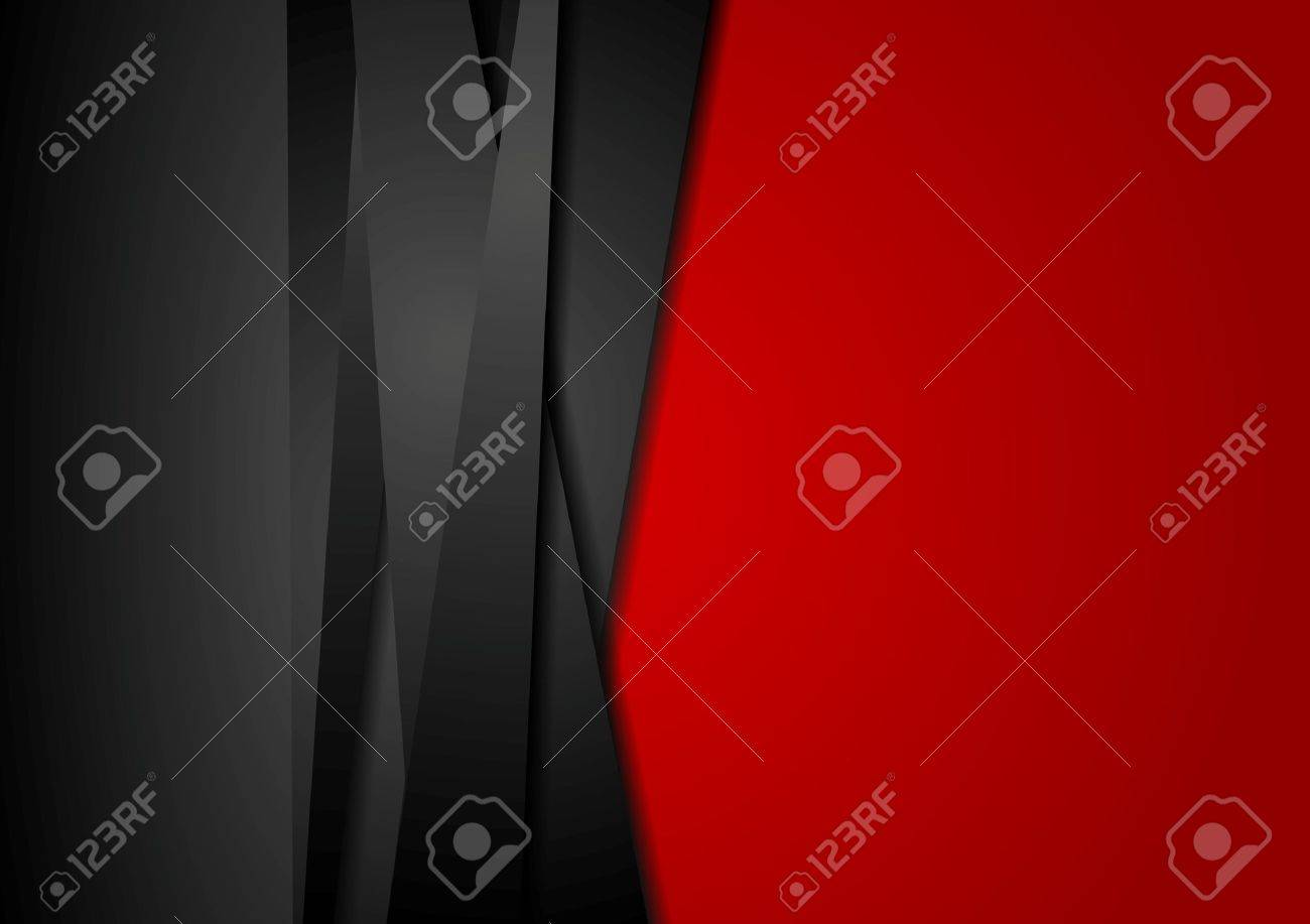 Red and black abstract striped background. Corporate vector design - 42285499