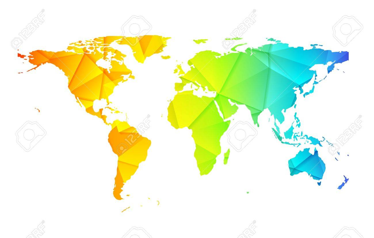 Low poly world earth map abstract background vector design low poly world earth map abstract background vector design stock vector 44651475 gumiabroncs Images