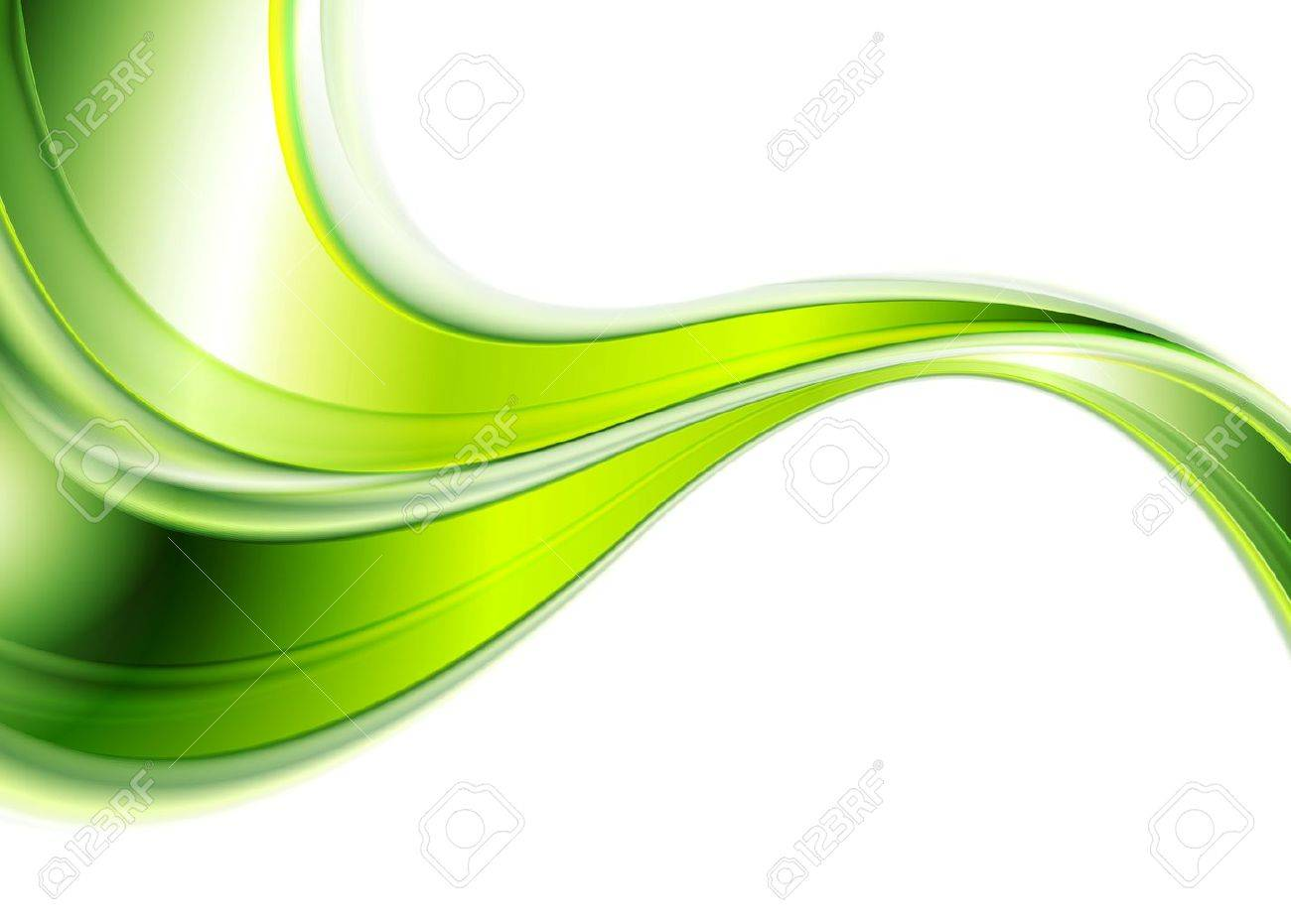 Green abstract smooth waves background. Vector design - 48720514