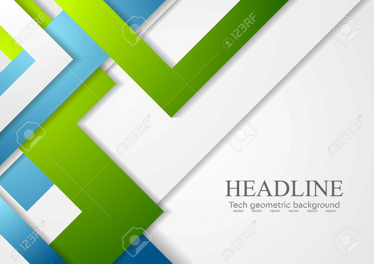 Bright geometric corporate tech background. Vector design - 48720867