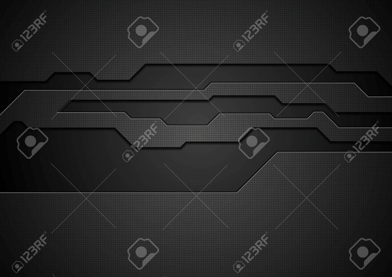 Abstract black technology corporate design. Vector background - 50263472