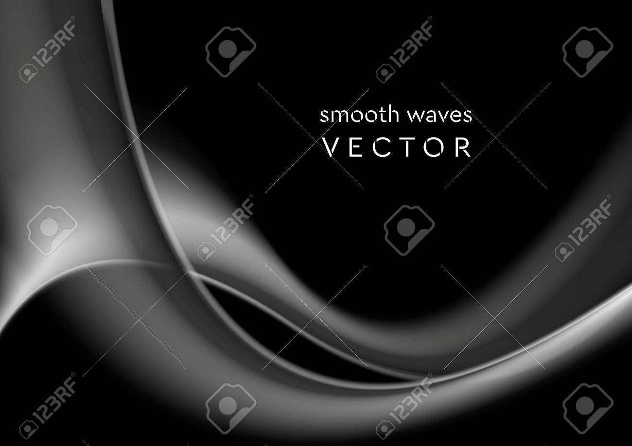 Elegant grey wavy smoke abstract background. Vector graphic design - 50876461