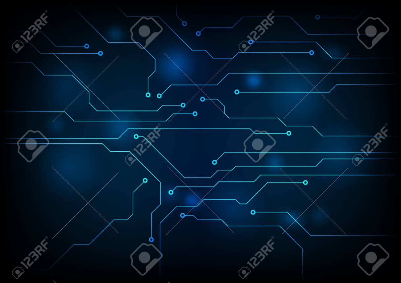 Dark Blue Circuit Board Technology Background Vector Graphic How To Design Boards Stock 51647578