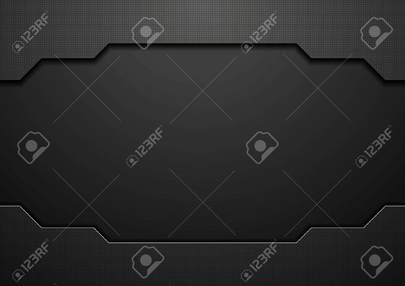 Abstract black technology concept design. Vector template background - 51647585