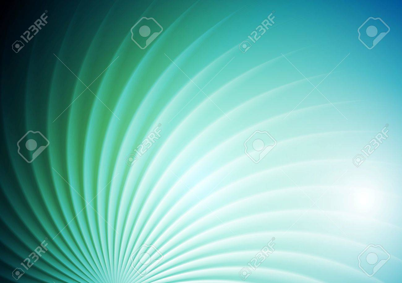 Abstract shiny swirl blue green background. Vector graphic brochure design - 52146413