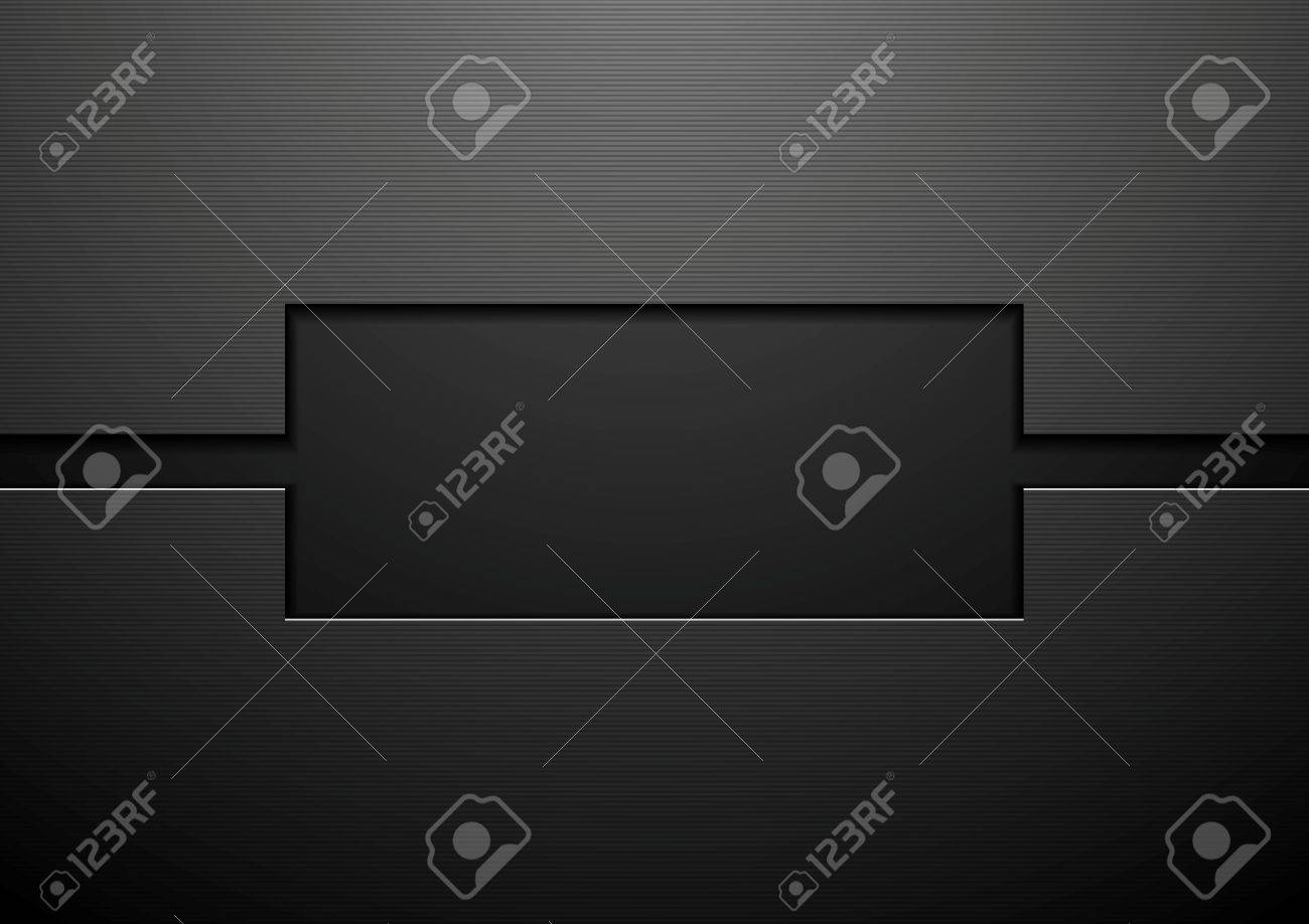 Abstract black technology corporate design. Vector illustration Stock Vector - 52146418