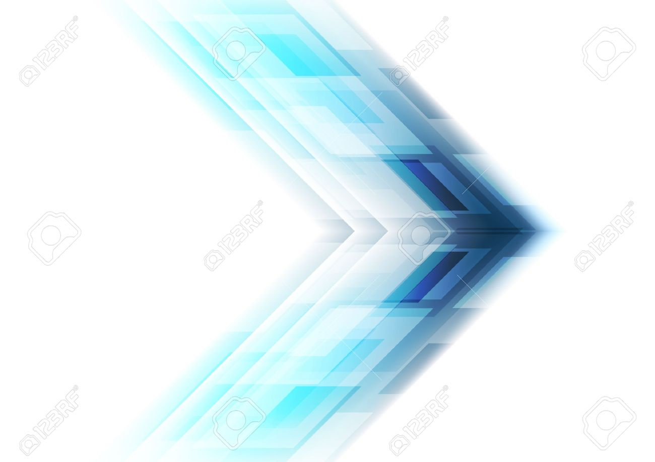 Blue Arrow Tech Background  Vector Template Graphic Design Royalty