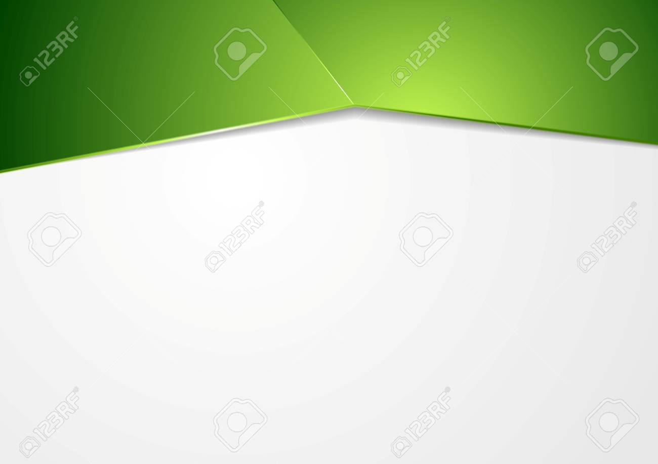 Abstract green corporate template background - 53381034