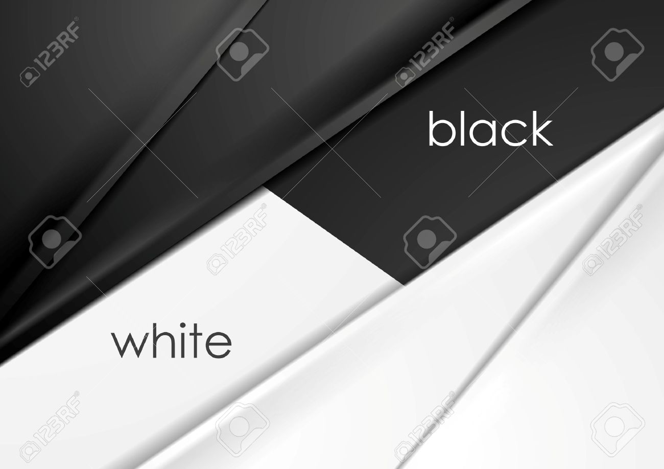 Smooth silk abstract black and white corporate background. Vector graphic design - 55641804