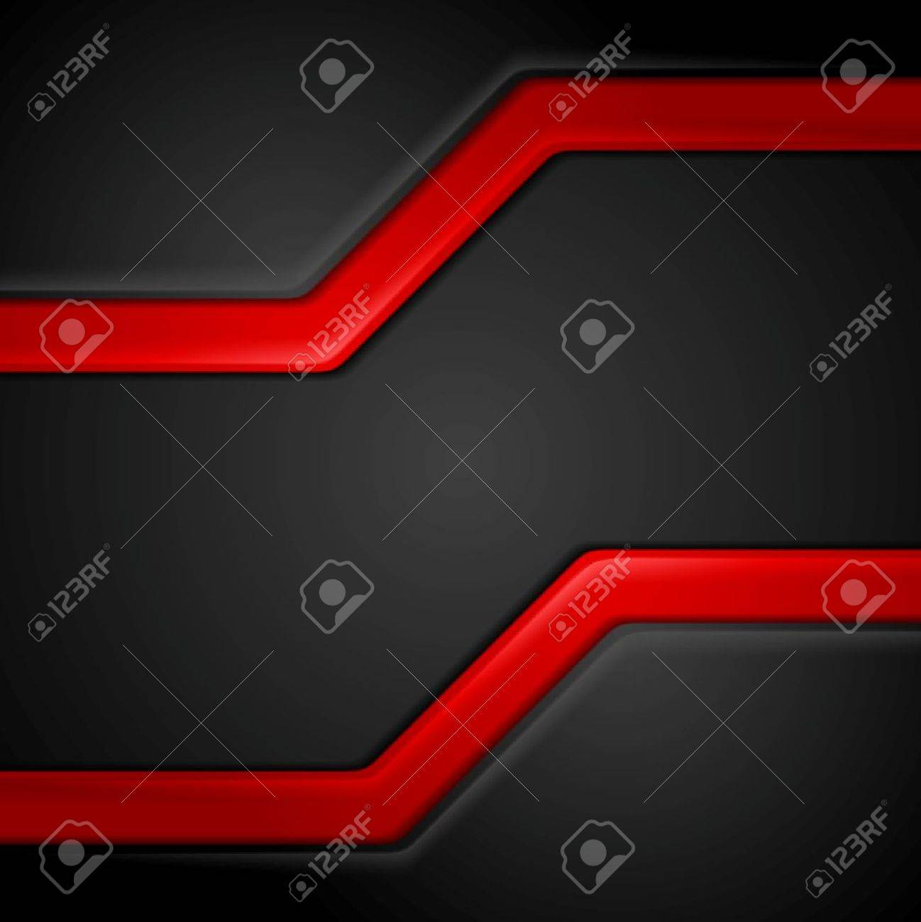 Abstract contrast black red tech background. Vector corporate graphic design - 55687024