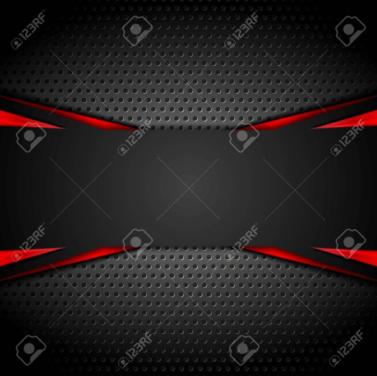 Abstract dark corporate red black background. Vector illustration - 55687200