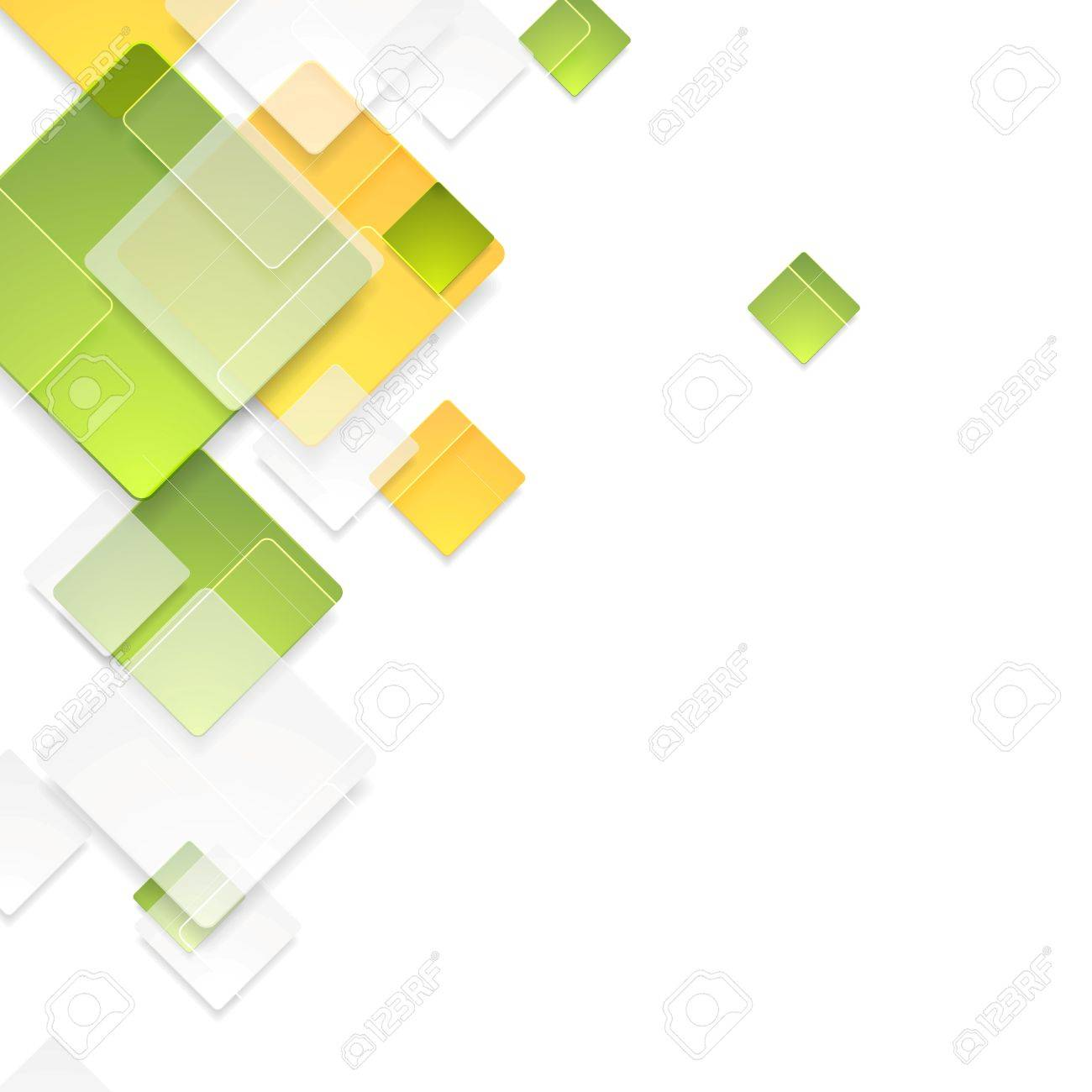 Green and orange glass glossy squares background. Vector illustration - 57171049